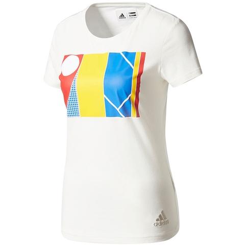 Adidas Pharrell Williams Ny Graphic Women's Tennis Tee
