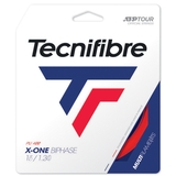 Tecnifibre X- One Biphase 17 Tennis String Set - Red